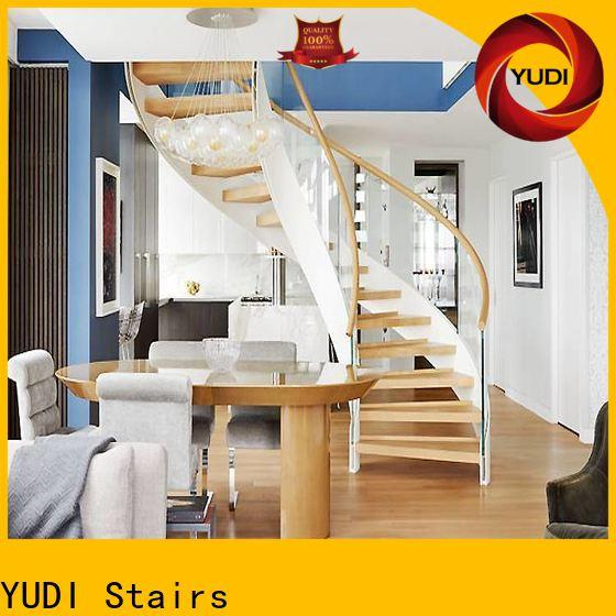 YUDI Stairs New building curved stairs vendor for indoor