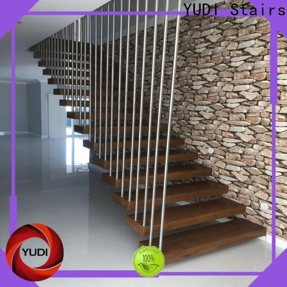 New steel floating stairs for office building