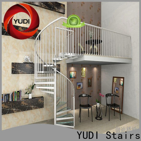 YUDI Stairs glass spiral staircase price for home