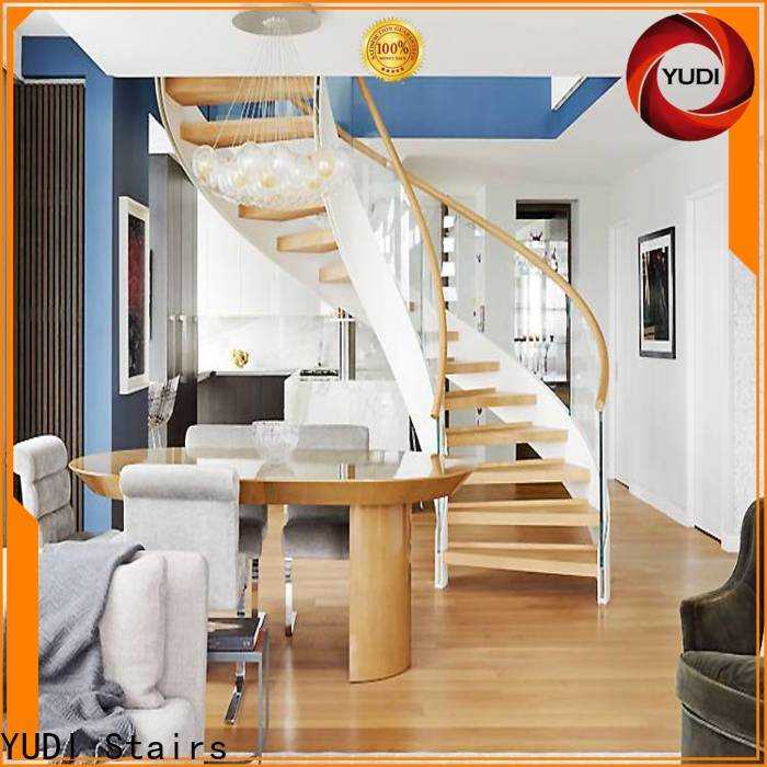 YUDI Stairs contemporary curved staircase factory for house