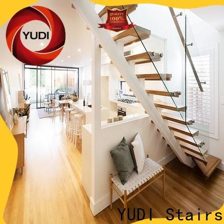 YUDI Stairs Custom straight staircase supply for commercial use