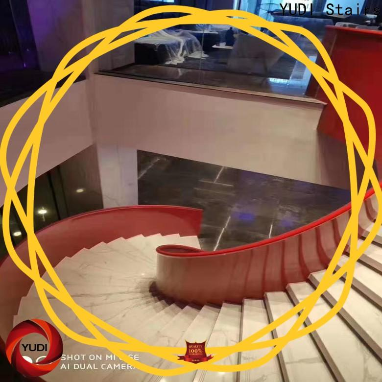 YUDI Stairs wood curved stairs supply for house