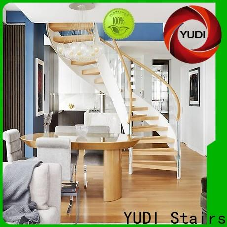 YUDI Stairs Customized contemporary curved staircase for villa