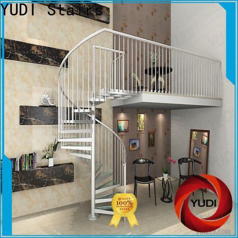 YUDI Stairs Top compact spiral staircase factory price for aprtment