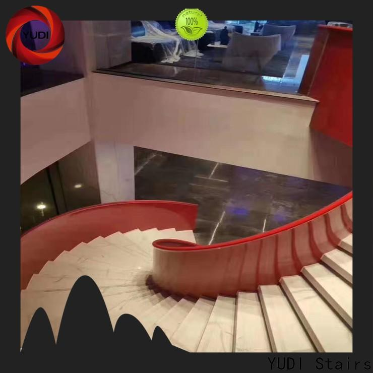 High-quality contemporary curved staircase supply for house