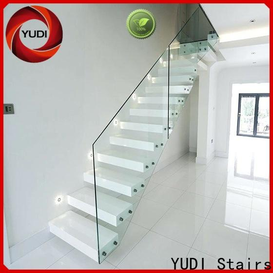 Custom floating stair treads cost for hotel