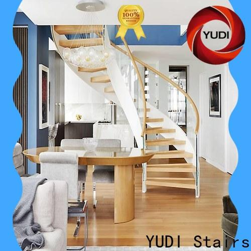 New curved glass staircase manufacturers for indoor