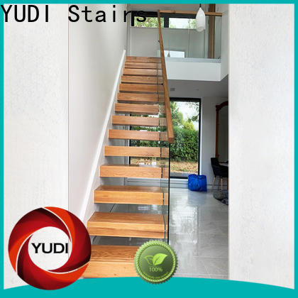 Customized floating stair treads factory price for villa