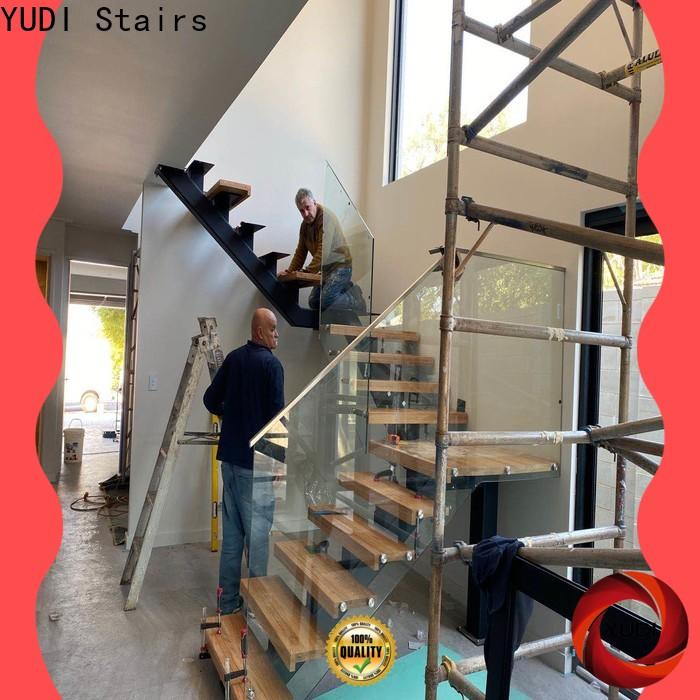 Custom made straight staircase supply for commercial use