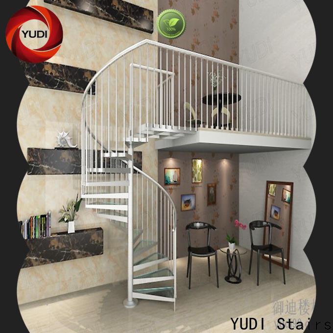YUDI Stairs High-quality spiral stairs outside company for indoor