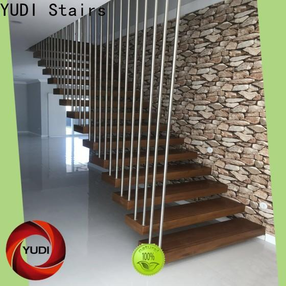 YUDI Stairs Custom made floating spiral staircase vendor for office building