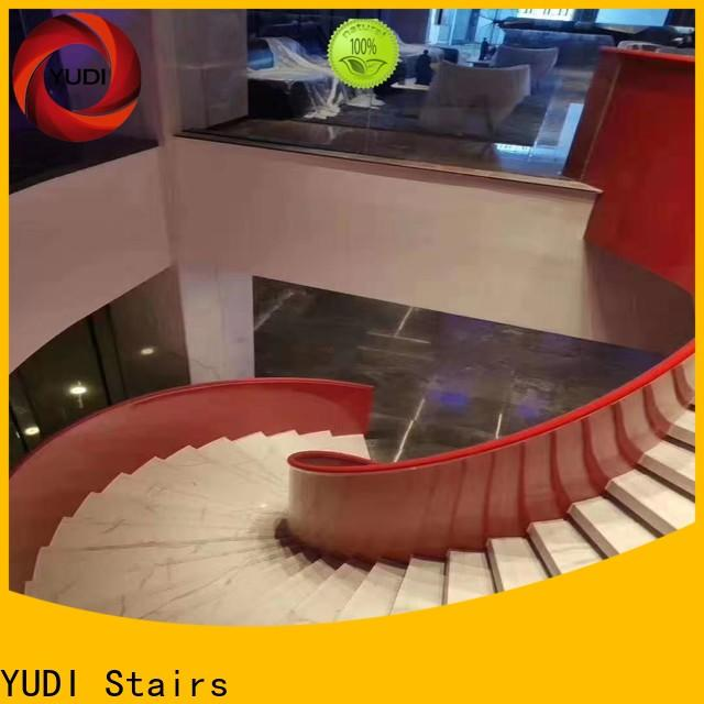 Customized custom curved stairs factory price for aprtment