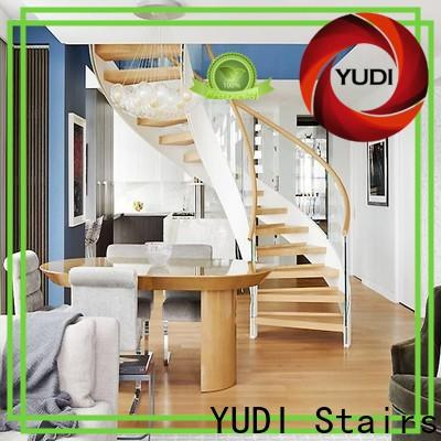Professional wood curved stairs price for house