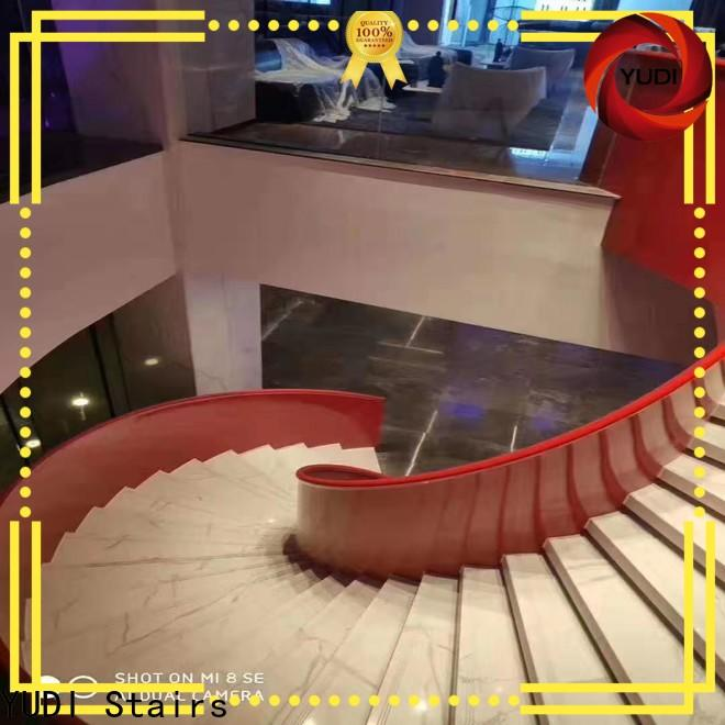 YUDI Stairs curved concrete staircase for indoor