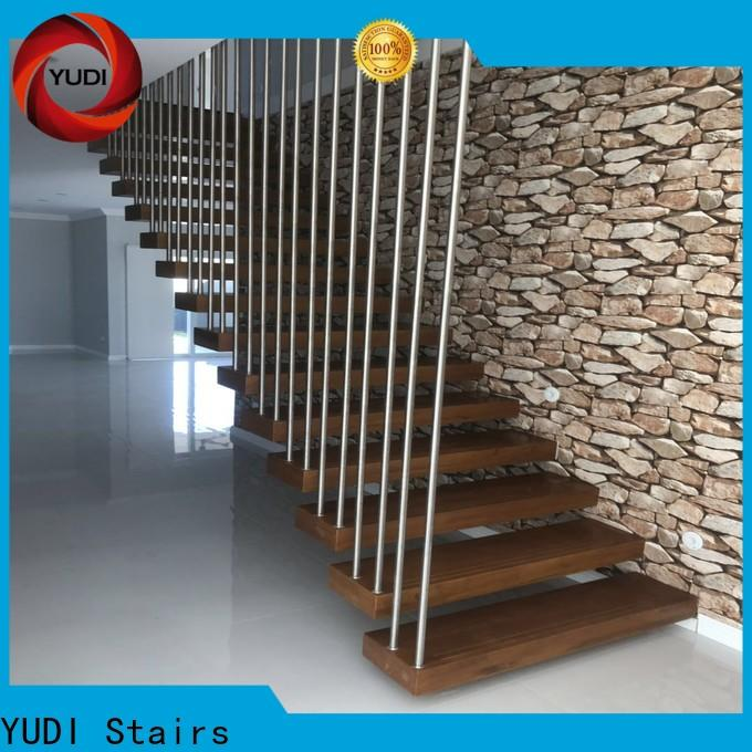 floating wood stairs factory price for apartment