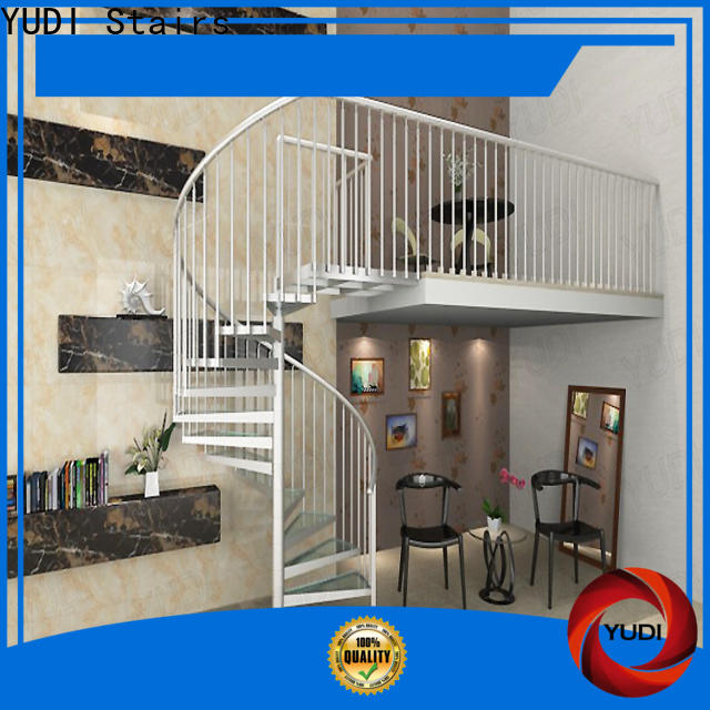Custom wooden spiral staircase supply for aprtment