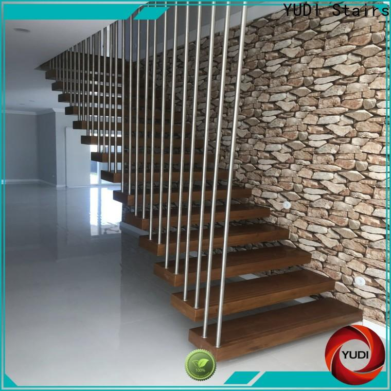 Custom floating steps staircase suppliers for hotel