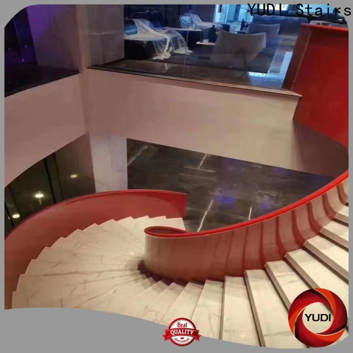 YUDI Stairs building curved stairs company for aprtment