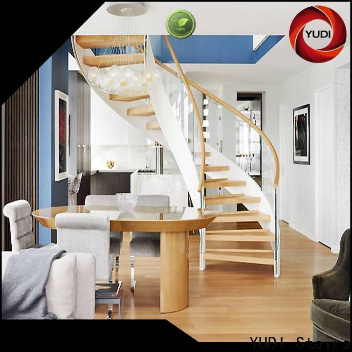 YUDI Stairs double curved staircase wholesale for villa