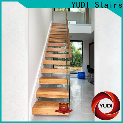YUDI Stairs Best floating wood stair treads supply for office building