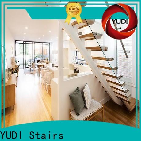 YUDI Stairs Top straight flight staircase supply for residential