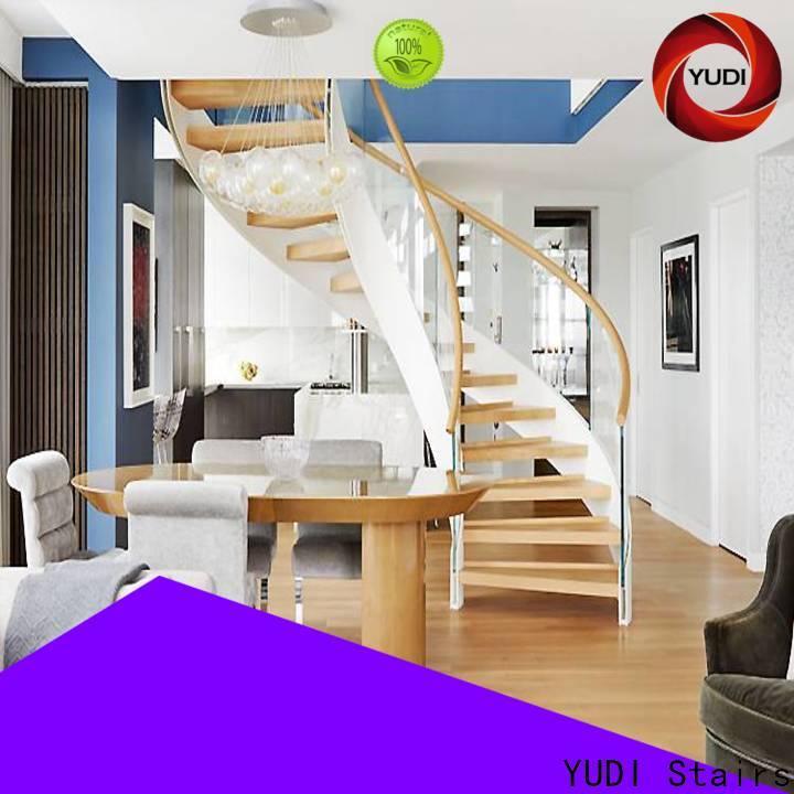 YUDI Stairs Customized half round stairs supply for villa
