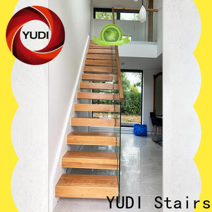 YUDI Stairs Custom made floating stairs price for hotel