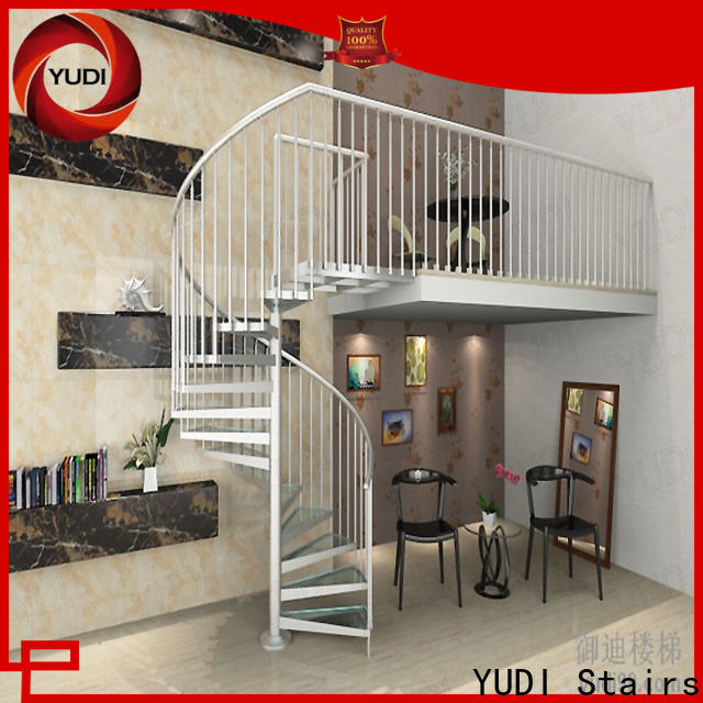 YUDI Stairs outdoor spiral staircase for sale supply for house