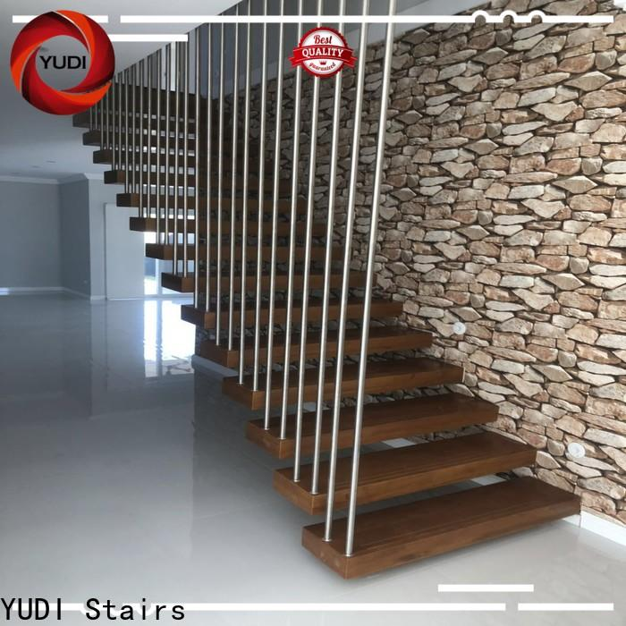 YUDI Stairs floating wood stair treads price for apartment