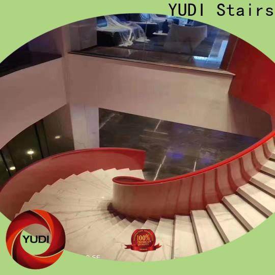 contemporary curved staircase manufacturers for villa