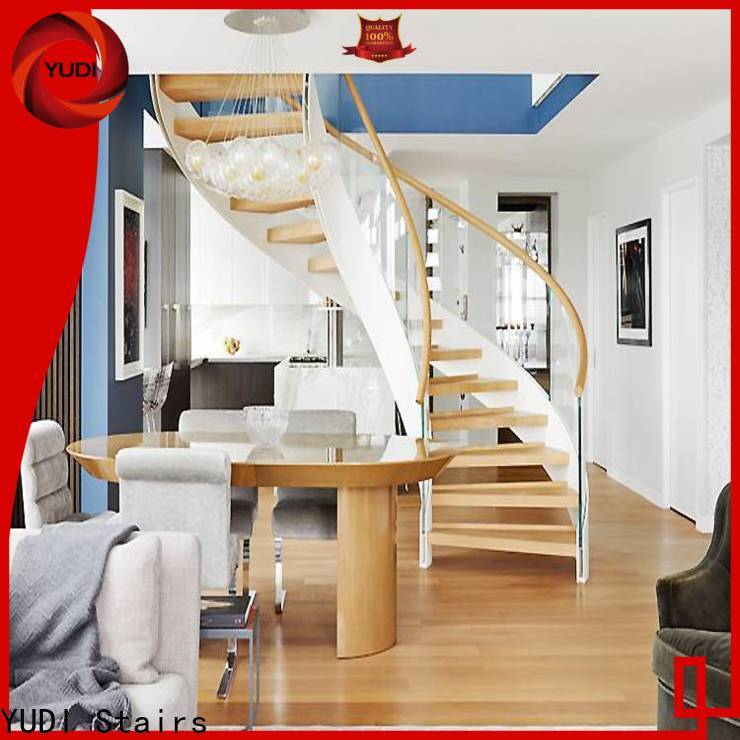 Quality curved stairs company for indoor