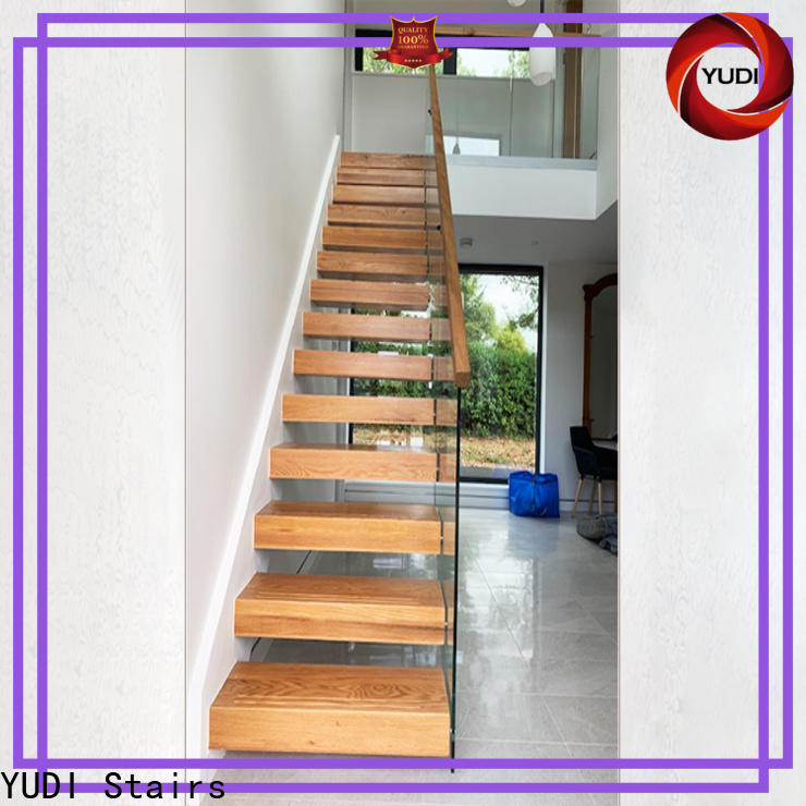 YUDI Stairs Best floating oak staircase wholesale for hotel