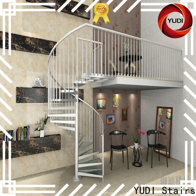 YUDI Stairs Best square spiral staircase factory for house
