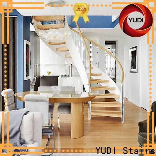 YUDI Stairs Top curved staircase vendor for indoor