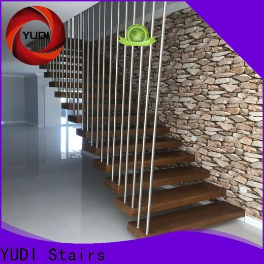 YUDI Stairs floating wood steps company for apartment