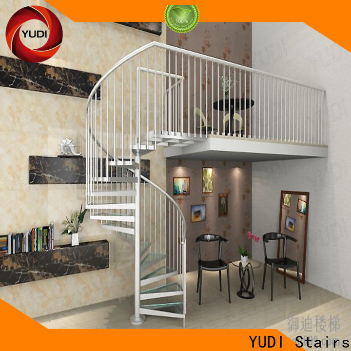 YUDI Stairs square spiral staircase factory for aprtment