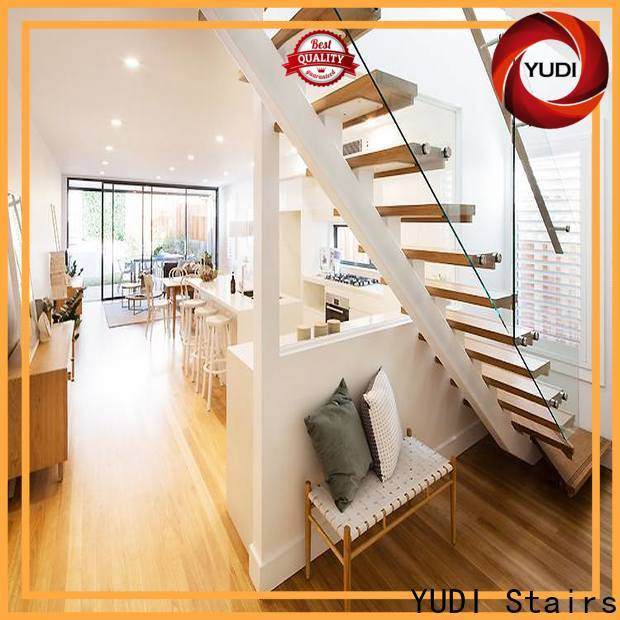 YUDI Stairs Customized straight staircase factory for commercial use