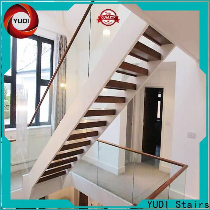 Customized u shaped staircase design price for aprtment