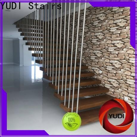 YUDI Stairs metal floating stairs supply for hotel