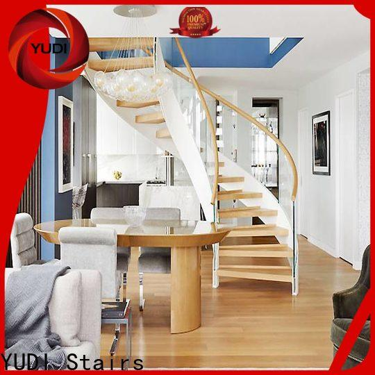 High-quality modern curved staircase company for villa