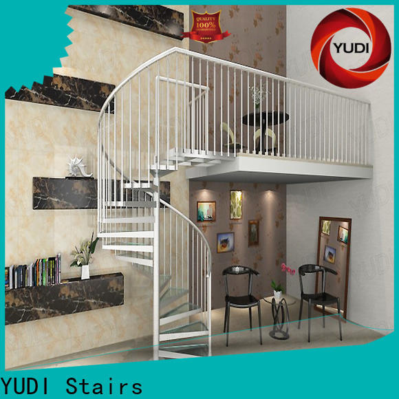 High-quality spiral stairs outside vendor for aprtment