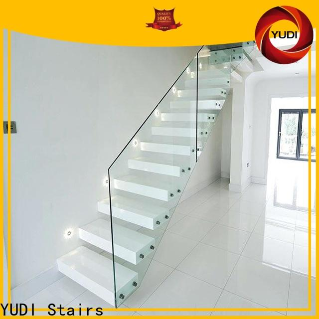 YUDI Stairs floating curved staircase cost for villa