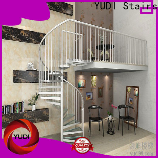 YUDI Stairs Custom square spiral staircase vendor for aprtment