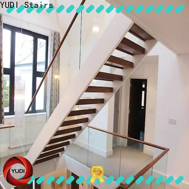 YUDI Stairs Custom made u shaped stair design vendor for public project