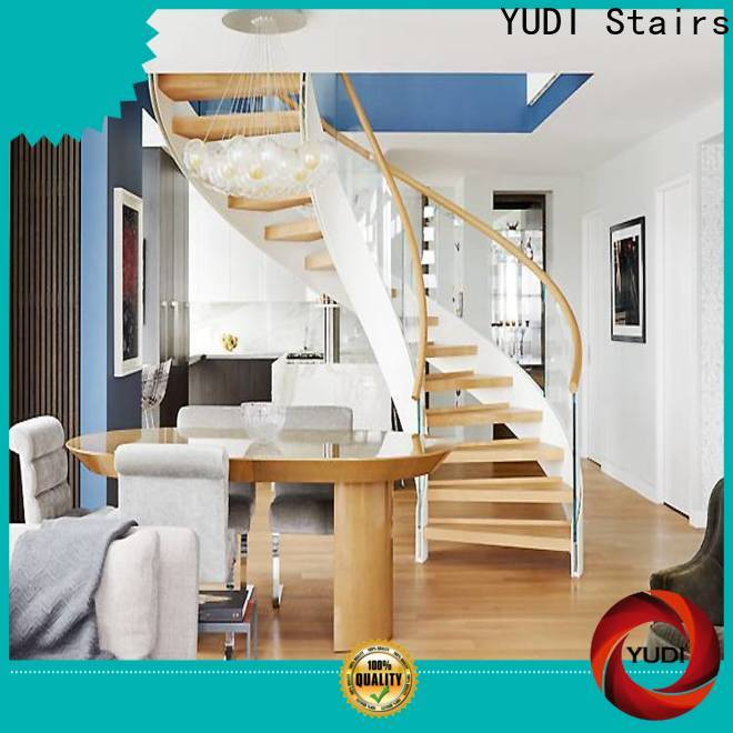 YUDI Stairs Top curved staircase factory for house